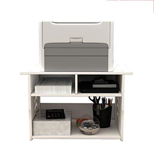 Soportes para impresoras Soporte de la máquina de fax de soporte de la impresora de escritorio, usado para el dormitorio de la oficina Document Scanner Scanner Tamaño: 36 × 30 × 27cm Soporte para impr