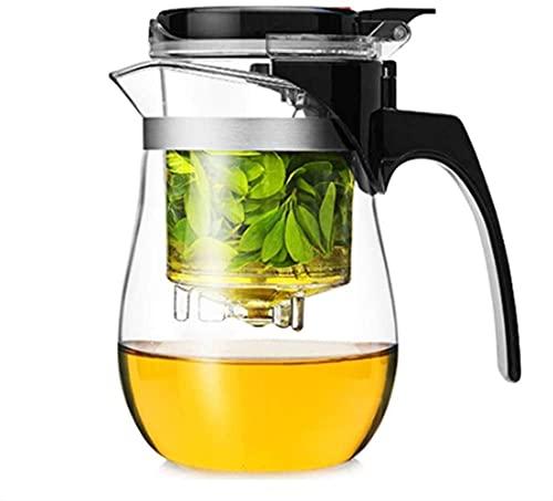 Peakfeng Kettle 750ml Tetera de Vidrio Resistente al Calor portátil 1yess Tea Taza