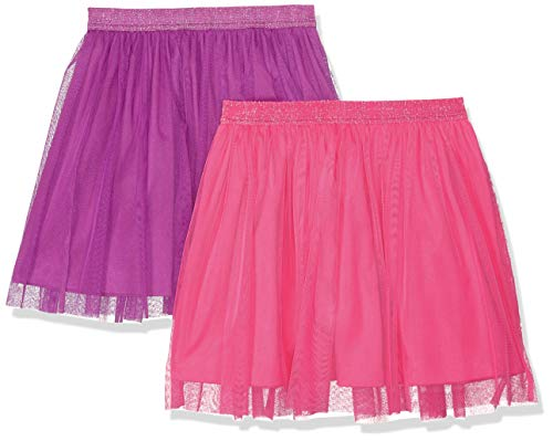 Amazon Brand - Spotted Zebra Kids Girls Tutu Skirts, 2-Pack Pink/Purple, Small