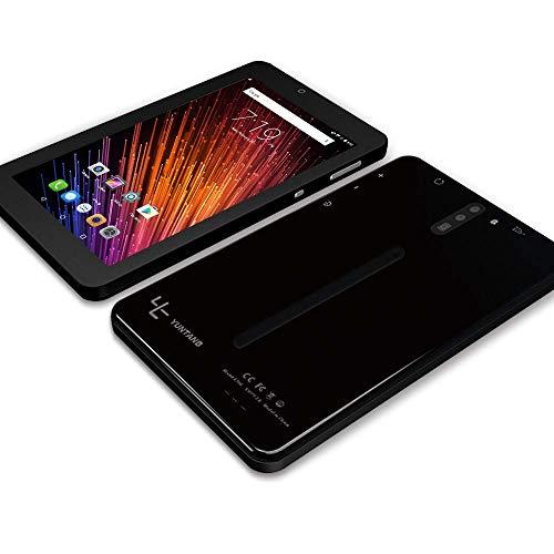 YUNTAB E706 Tablette 7'', RAM 1 Go + ROM 16Go, avec Double logement pour Carte SIM, WI-FI, Bluetooth, Prise en Charge 2G, Appel 3G, Système Android 7.0 (Noir New)
