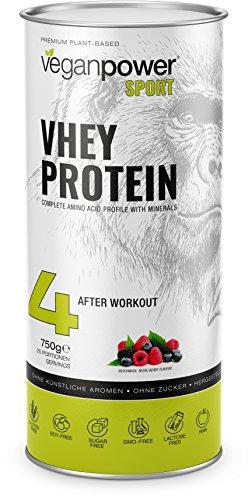 VHEY Erbsenprotein (XL 750g) vegan, 100% natürliches Eiweiß, reich an Aminosäuren, glutenfrei, zuckerfrei, lactosefrei mit Waldfrüchte Geschmack