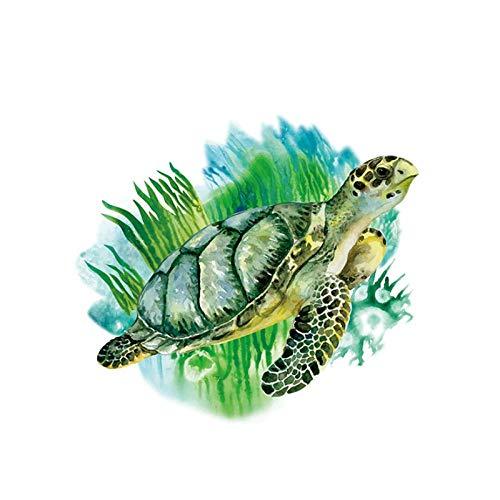KBIASD Pegatinas de pared de animales de tortuga marina para habitaciones de niños dormitorio sala de estar cocina decoración vinilo pegatinas de pared de PVC para decoración del hogar 28 * 39cm