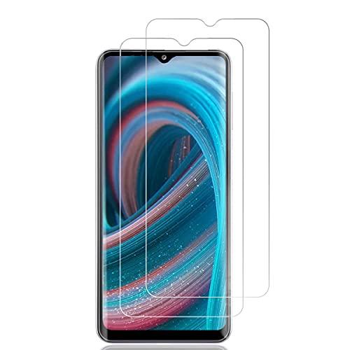 [2 unidades] Protector de pantalla de cristal templado compatible con Samsung A32, protector de pantalla HD, dureza 9H, ultra transparente, sin burbujas, protector de pantalla para Samsung A32