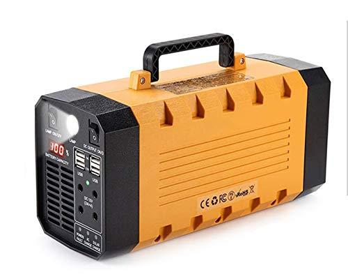 GXING Generatore Inverter Solare Portatile 300W, 75000mAh Power Bank, con DC AC Invertitori(Onda Sinusoidale Pura), Batteria Solare Backup di Emergenza di Campeggio Esterna, per Campeggio, CPAP
