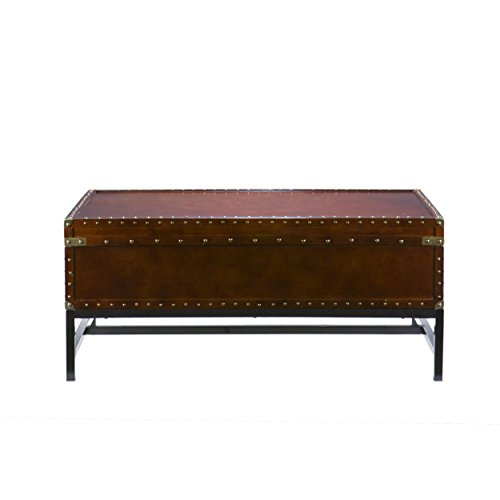 Southern Enterprises Voyager Storage Cocktail Coffee Table, Espresso Finish