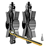 TXSOLAR Camper Wheel Stabilizer Scissor 2 Pieces for RV Travel Trailer tire chocks Rust Proof for Airstream etc