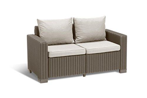 Allibert Lounge Sofa California 2-Sitzer, cappuccino/panama sand