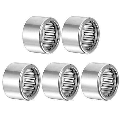 Open End Pack of 10 uxcell HK0709 Drawn Cup Needle Roller Bearings 9mm Width 7mm Bore Dia 11mm OD