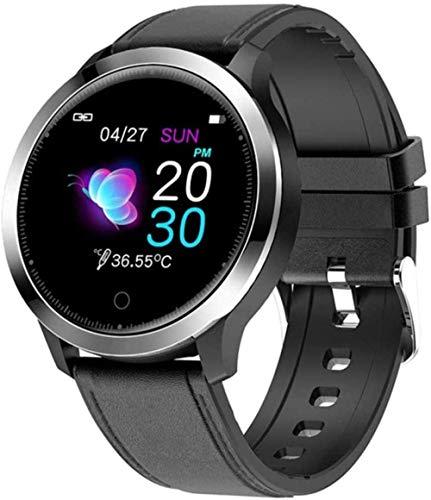 Termómetro reloj inteligente con monitor de temperatura corporal para hombres y mujeres s Fitness Tracker Medidor de presión arterial Bluetooth Smart Watch-D-B