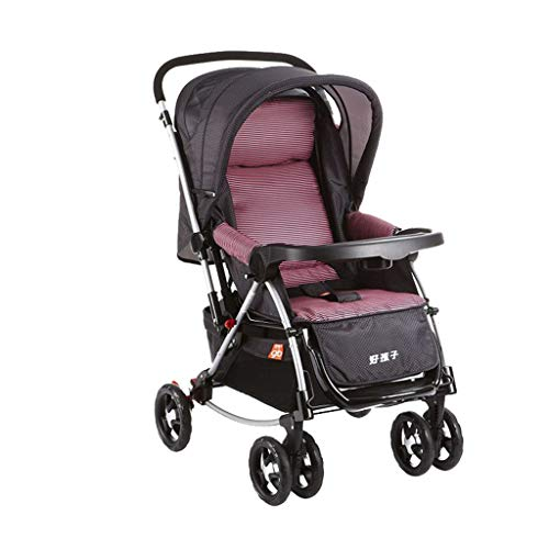 Best Bargain Baby Stroller Can Sit Two-Way Lightweight Folding Cradle with Caster Shock Absorber (Co...