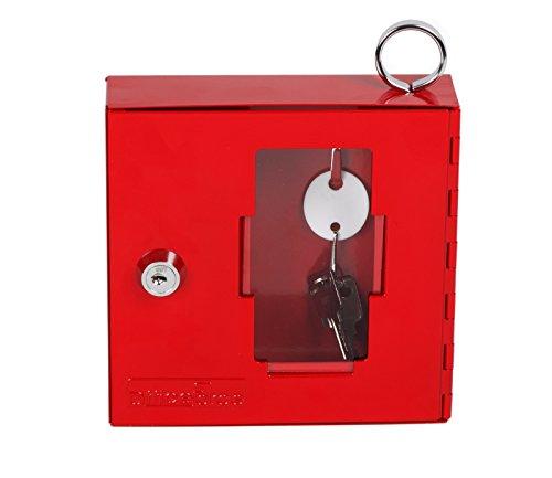 OfficeForce® Notschlüsselkasten, rot, abschließbar (20093)