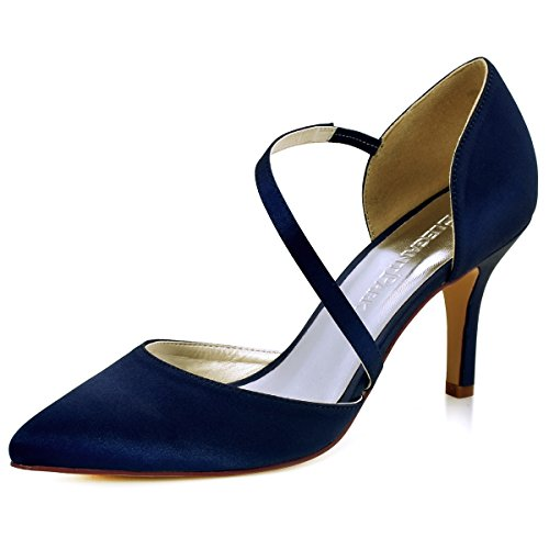 ElegantPark HC1711 Punta Estrecha de Las Mujeres Tacones de Aguja Zapatos de la...