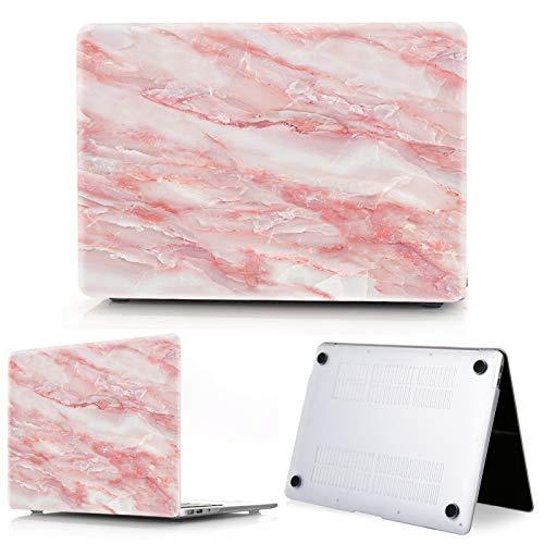 Nuevo mármol portátil caso para MacBook Touch ID Air 13 caso A1932 Pro 12 16 15 11 pulgadas shell para MacBook Pro 13 caso+cubierta del teclado-rojo-13 pulgadas modelo A1708