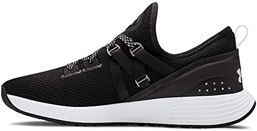 Under Armour Women's Breathe Trainer Sneaker, Black (001)/White, 8.5