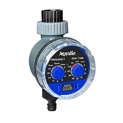 Aiglen Temporizador de agua de jardín Válvula de bola automática Temporizador de riego electrónico Home Garden Riego Temporizador Sistema de controlador