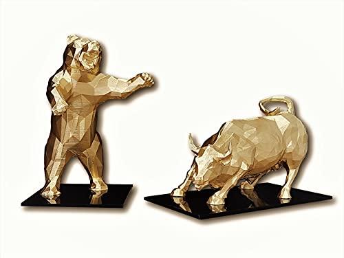 Touro e Urso de Wall Street, Nova York, Bolsa de Valores, Investidor, Mercado de Ações, (Ouro)
