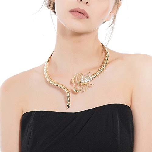 XIAOXINGXING Halskette Europa und die Vereinigten Staaten Modeschmuck Goldlegierung Schmuck Anhänger Skorpion Halskette für Frauen (Farbe: Gold, Größe: Einheitsgröße)