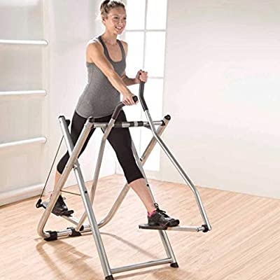 Foldable Air Walk Trainer Elliptical Machine Glider for Home Use | Home Gym Workout Cross Trainer | 260 LB Max Weight Quiet Mute Walking | Cardio Training Workout Fitness Exercise Slimming Weight Loss