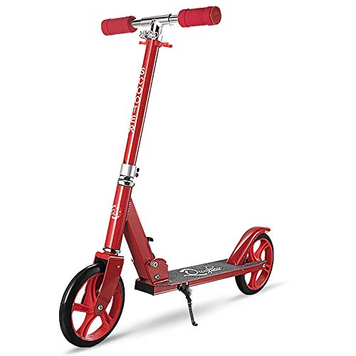 LJHBC Patinete Pedal de Aluminio Todo Fácil de Plegar Altura Ajustable Scooter...