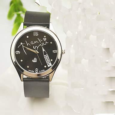 XKC-watches Herrenuhren, Damen Herrn Modeuhr Quartz Strass Imitation Diamant Silikon Band Bettelarmband Uhr mit Wörtern Bequem Schwarz (Farbe : Schwarz, Geschlecht : Für Manner)