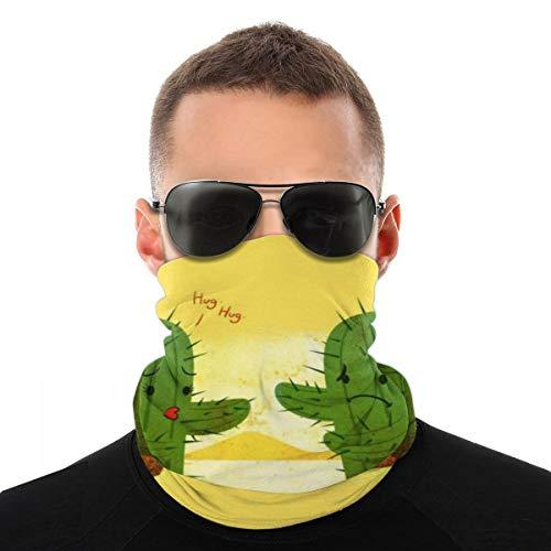 OUYouDeFangA - Gorro unisex con diseño de cactus, multifunción, poliéster, de secado rápido, suave, pañuelo para el cuello, bufanda, pañuelo para la cabeza, máscara, cuello, polaina, para hombres y mujeres
