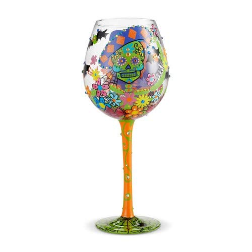 Lolita 6002982 Copa de vino, Superbling Sugar Skulls