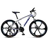 CHHD Bicicleta de montaña para Adultos de 26 Pulgadas, Bicicleta de aleación de Aluminio con Marco de 17 Pulgadas, Freno de Disco Doble, Horquilla de suspensión, Ciclismo, cercanías urb