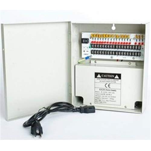 Price comparison product image 18 Channels 12V DC Regulated Distributed Power Supply panel individually fused 10 AMP Total Output