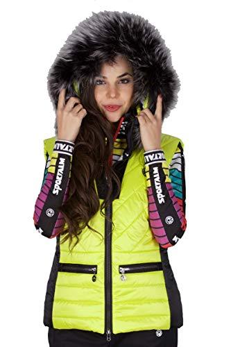 Sportalm Skiweste mit Kapuze Größe 42 EU Gelb (Yellow)
