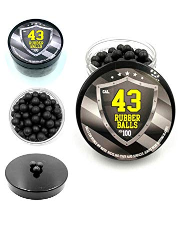 SSR 100 x Hard Rubber Balls Paintballs Reballs 43 Cal. T4E RAM Shooting Defense & Bolas de Paintball Pintura Pelotas de Goma Acero la Pistola Revolver T4E RAM Rubber Balls Paintballs M2 TMP1