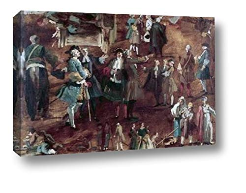 "Figure Studies by Canaletto - 13"" x 20"" Canvas Art Print Gallery Wrapped - Ready to Hang"