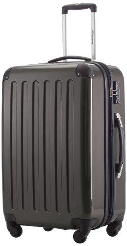 HAUPTSTADTKOFFER - Alex - Hartschalen-Koffer Koffer Trolley Rollkoffer Reisekoffer Erweiterbar, 4 Rollen, TSA, 65 cm, 74 Liter, Graphit