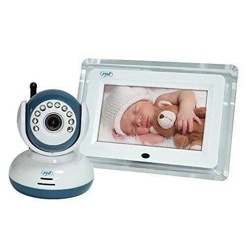 Wireless vídeo Vigilabebés PNI B7000de 7pulgadas de pantalla LCD, visión nocturna