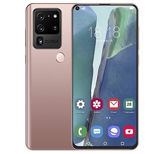 Smartphone Desbloqueado, batería de 5000 Mah 12 + 512 GB Android 10 Dual Sim Face ID + Teléfonos móviles con Huellas Dactilares 7.2'13MP Selfie Quad Camera GPS Bluetooth WiFi Teléfono móvil(I)