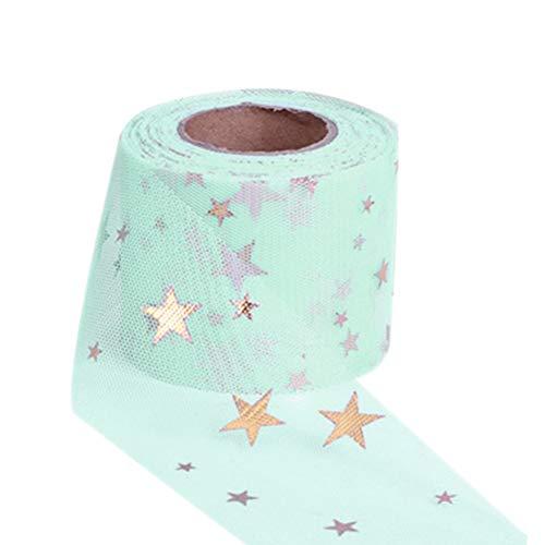 Cinta de tul de 6 cm de ancho, exquisita multifunción, para manualidades, se utiliza para decoración de Navidad, regalo de boda, envoltura de pelo, clip para hacer accesorios