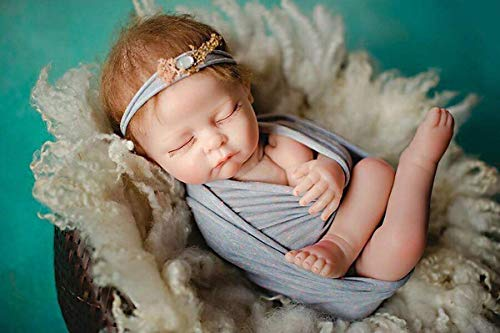 TERABITHIA 52cm Realistic Naked Photography Training Reborn Baby Doll Props Posing Posture Training Weighted Cloth Body Newborn Dolls, 20 inch
