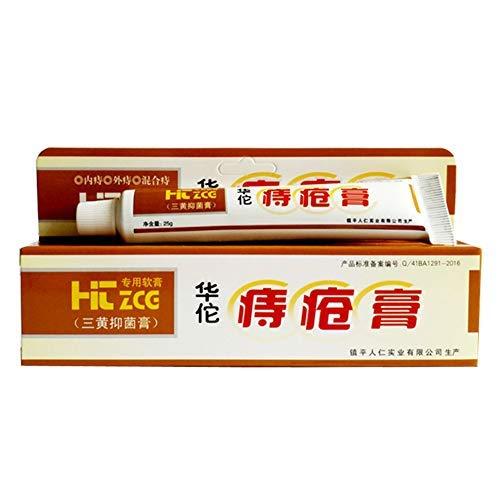Akemaio 25g Hua Tuo Hämorrhoiden-Salbe für Interne Piles, Natural Plant Herbal Powerful Hämorrhoiden-Creme