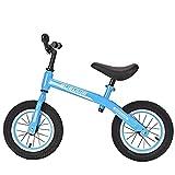 Bicicletas Sin Pedales para Niños De 12' Bici con Ruedas Bicicleta De Equilibrio Liviana Neumático De Goma Asiento Ajustable Bicicleta De Entrenamiento 1-6 Años hasta 35 Kg,Azul