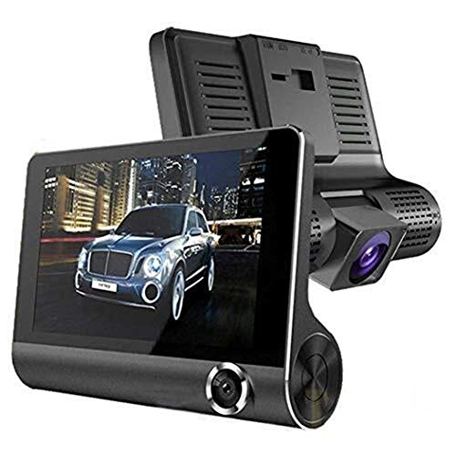 LULUDP Telecamera di retromarcia Videoregistratore for auto da 4.0 pollici 1080P a doppia lente for auto DVR DVR da 170 gradi for telecamera retromarcia for auto G-sensor Registratore di guida per aut