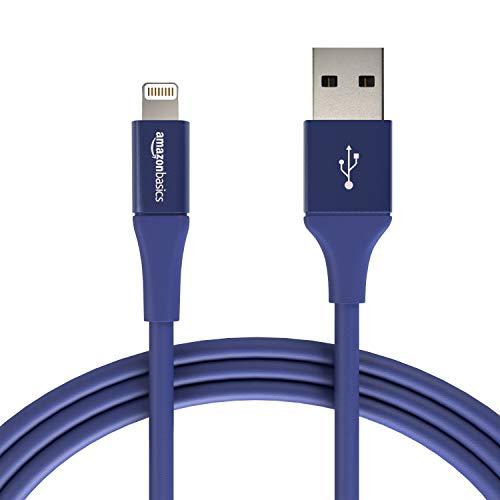 Amazon Basics - Cavo USB Tipo A cpm connettore Lightning, collezione Premium, 1,8 m, Confezione de 1 - Blu