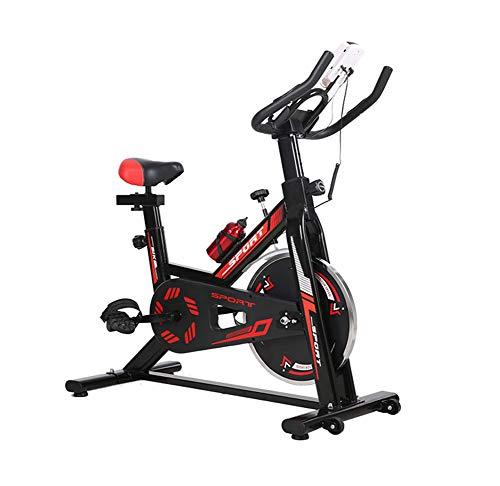 Lcyy-Bike Allenatori di Bicicletta Resistenza Magnetica 6 kg Volano Cardio Workout con Display Multifunzionale E Porta Tablet Manubrio Regolabile E Altezza Sedile