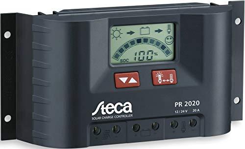 Steca PR2020 2020 Solarladeregler mit LCD Display und Lastausgang für 12V Verbraucher bis 20A