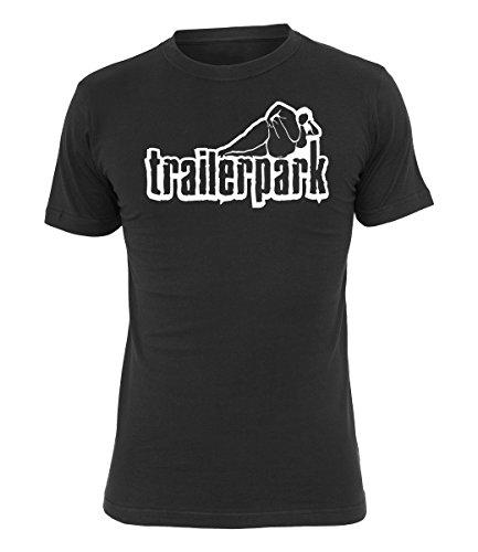 Trailerpark T-Shirt Logo, Farbe:schwarz, Größe:XL