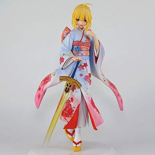 ZNLHJ 10.2 Pulgadas Fate Night Fate Disfraz de Kimono Hecho a Mano Saber Sebawu King Adornos de mueca Modelo Hechos a Mano, Material de PVC Coleccin de Kit de Garaje de animacin