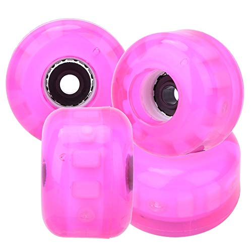 Alomejor 4PCS 54x36mm Skateboard Rad PU Flashing Skateboard Gleiträder Longboard Skateboard Ersatz Rad Set