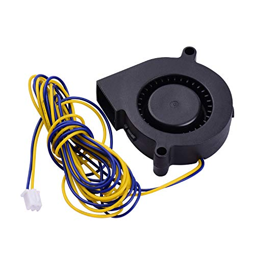 Ajcoflt 1pc Blower Fan Brushless Cooling Fan 50 * 50 * 15mm DC 24V Compatible with 3D Printer Extruder Computer Aromatherapy Machine