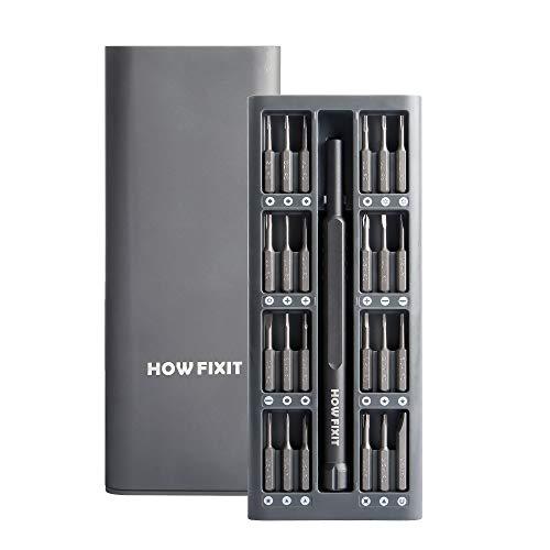 HowFixit PRO 24 bit Screwdriver Set for Repair Electronics, Smartphone, iPhone, Laptop, Macbook, PC, Game Console, Camera, Tablet, Glasses etc