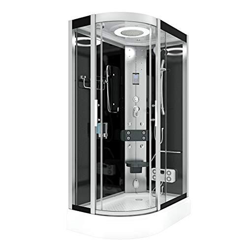 AcquaVapore DTP8060-7302L Dusche Dampfdusche Duschtempel Duschkabine 120x80 JA mit 2K Scheiben Versiegelung