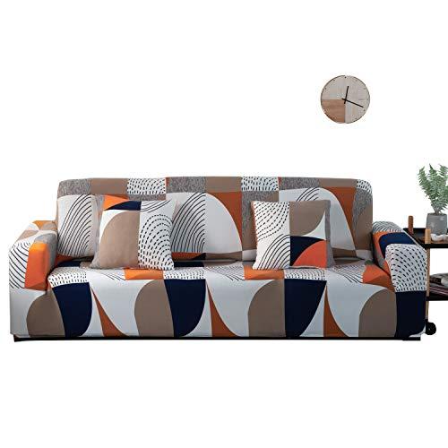 ARNTY Sofabezüge, Moderne Elastischer Sofabezug Stretch 1/2/3/4 Sitzer Couchbezug Antirutsch Blumendruck Sofahusse für Couch Möbelschutz(Modern A, 3 Sitzer Sofabezüge:181-230cm)
