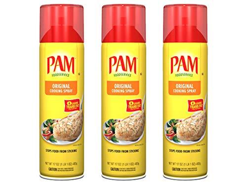 PAM® USA Original Canola Oil No-Stick Cooking Spray 3 x 482g (3-Pack)